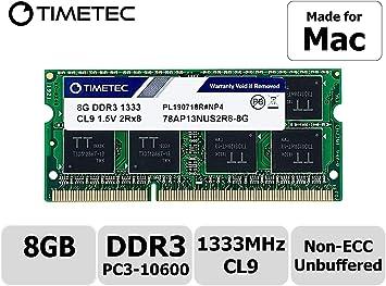 8GB SODIMM Apple MacBook Pro 2.3GHz Intel Core i7-17-inchEarly-2011 Ram Memory