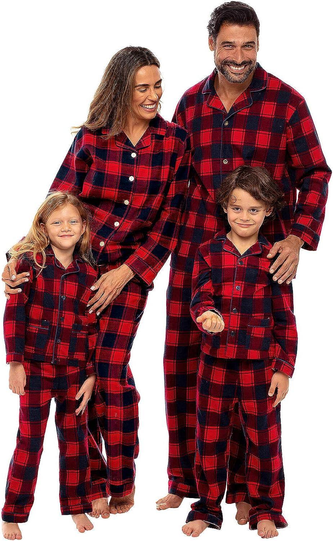 Women Alexander Del Rossa Family Christmas Pajama Sets Matching Pajamas for Men and Children