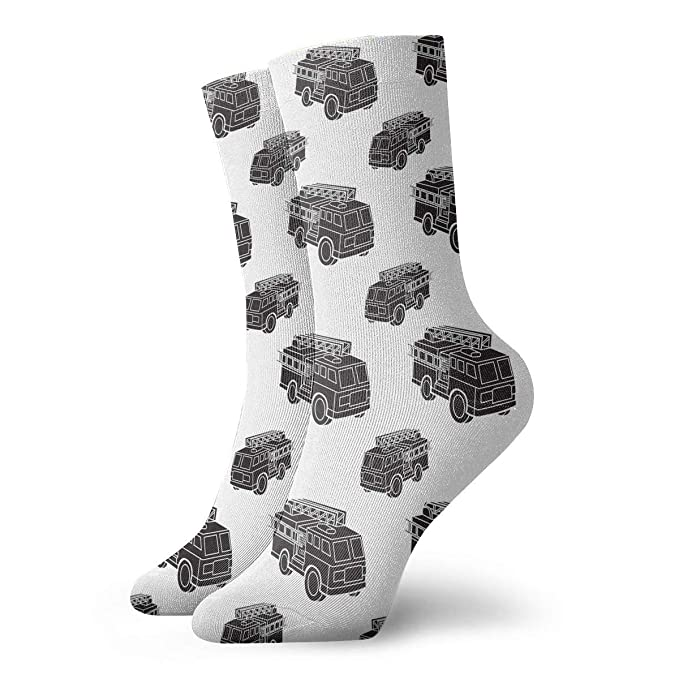 c20ac14926615 Women Men Fire Engine Pattern Athletic Ankle Socks at Amazon Men's ...