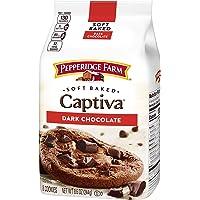 Pepperidge Farm Soft Baked Captiva Dark Chocolate Brownie Chunk Cookies, 244 g