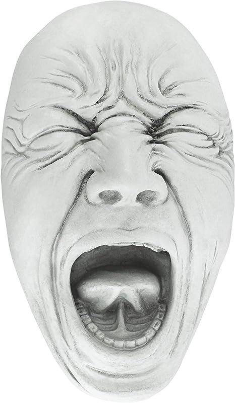 Amazon.com : Design Toscano OS68490 Screaming Simon Wall Sculpture, Antique Stone, Medium : Garden & Outdoor