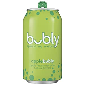 Bubly Sparkling Water, Apple, 12 Fluid Ounces, Pack Of 18