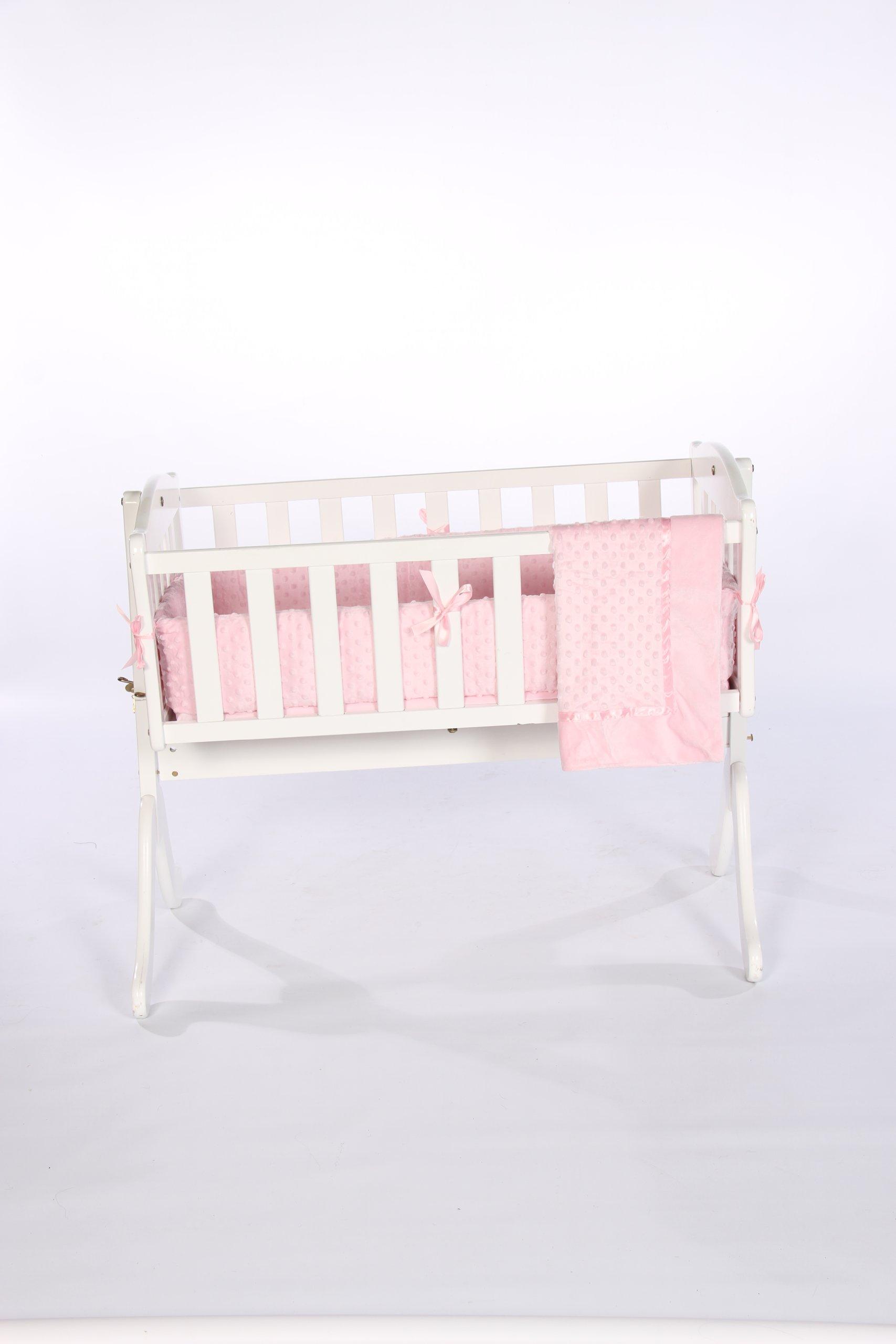 Baby Doll Bedding Heavenly Soft Cradle Set, Pink