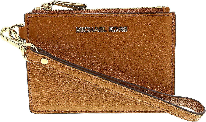 MICHAEL Michael Kors Mercer Logo Coin Purse Brown: Amazon