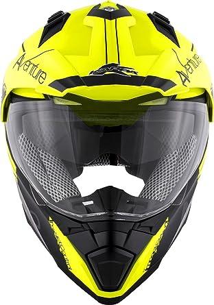 Size XS HKKV30FNYBK/_54 Adventure Neon Yellow // Matt Black Kappa KV30 Enduro Full-face helmet in thermoplastic material