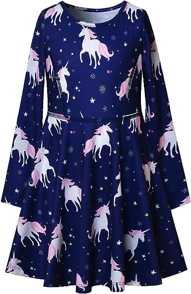 Amazon.com: Jxstar - Vestido de manga larga para niña con ...