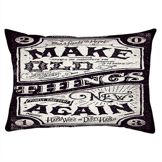 Snoogg Hacer Cosas Nuevas rectangular Toss Throw Pillow ...