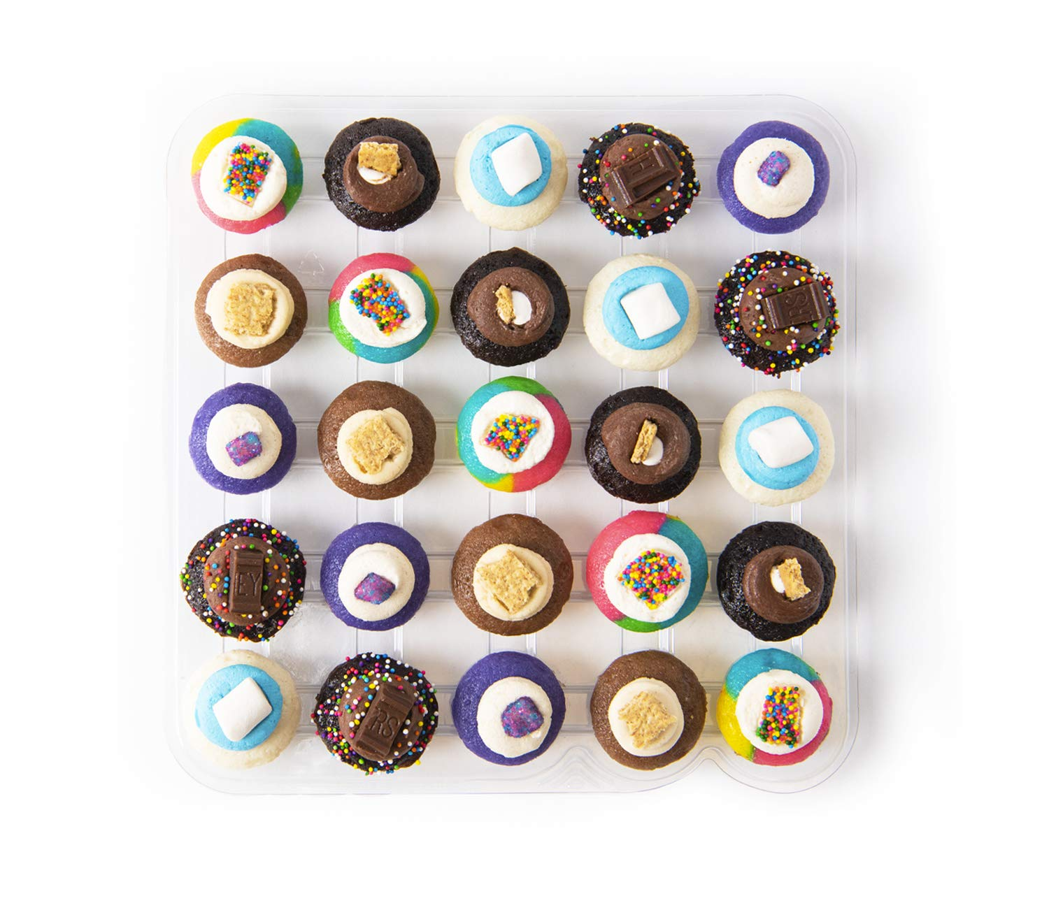 Baked by Melissa Cupcakes Camp Assortment - Assorted Bite-Size Cupcakes (25 Cupcakes)