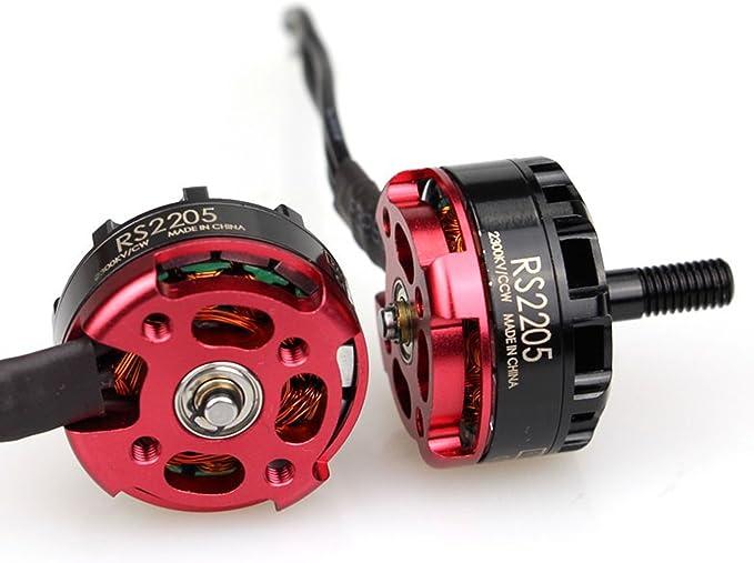 Emax Motor RS2205 2300kv CW para Drone Fpv Racing Mini Quad Culo Rojo