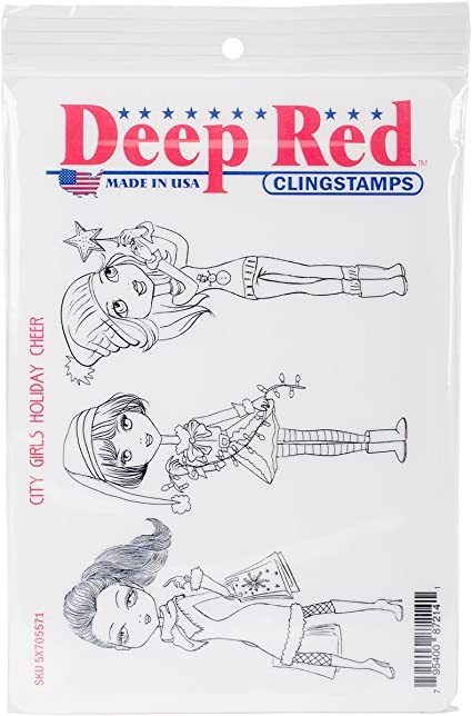 """Deep Red Cling Stamp 4/""""x6/""""-crown Collection"""