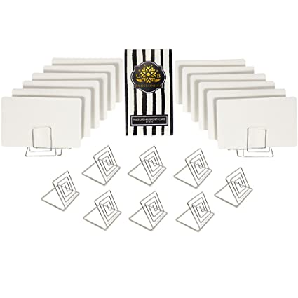 Beau CB Accessories Wire Place Card Holder Stands With White Cards For Weddings,  Dinner Parties,