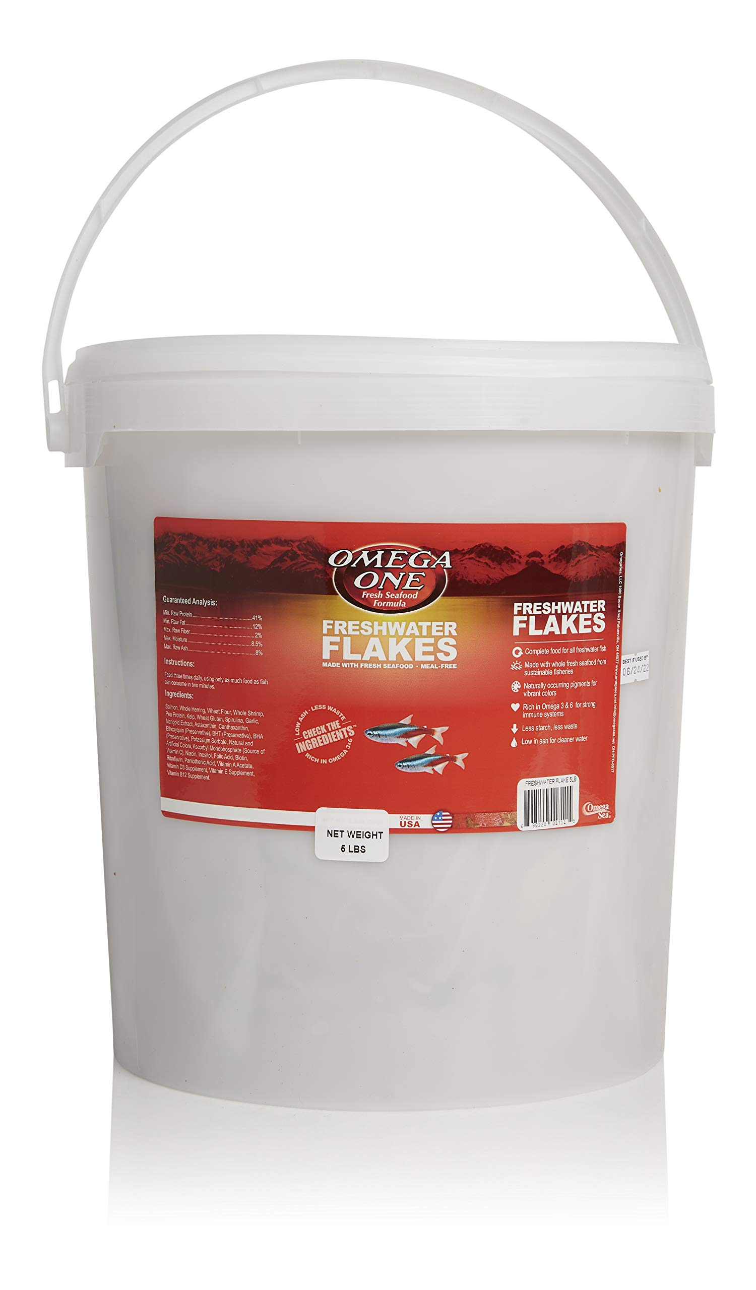 Omega One Freshwater Flakes, 5 lb by Omega One