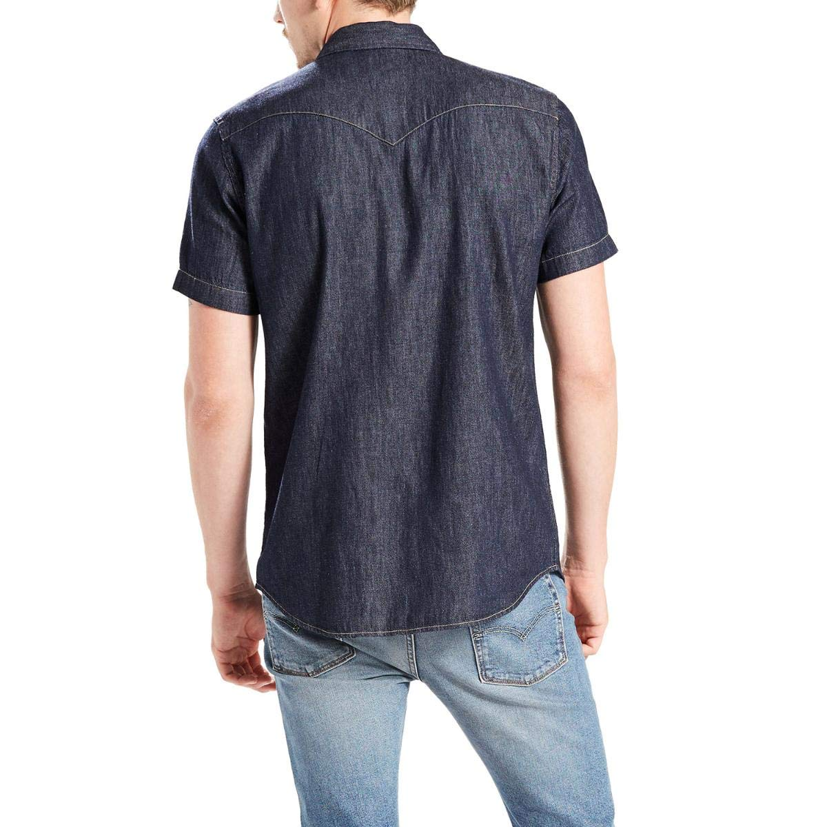 9303393e7a Camisa Levis Masculina Jeans Short Sleeve Classic Western Azul Escura   Amazon.com.br  Amazon Moda