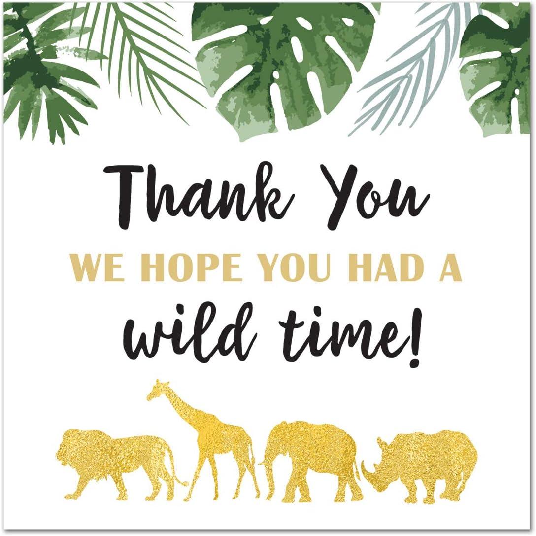 Thanks for a Wild Good Time Animal Jungle Safari Themed Birthday Party Hang Tags RR-170-2