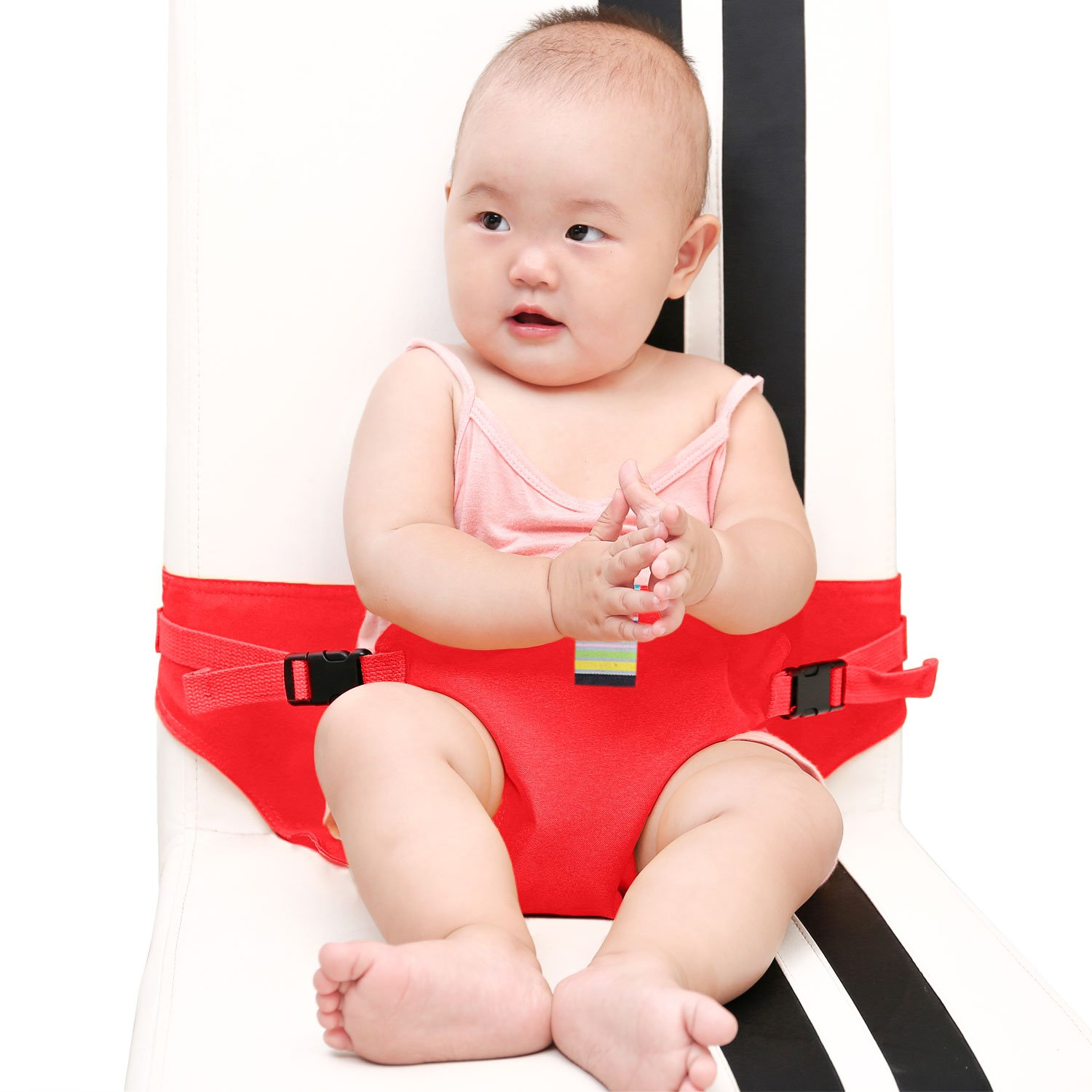 KIKIGOAL Portable Washable Baby Travel High Chair Booster Safety Seat Strap Harness Belt for Baby Feeding (yellow)