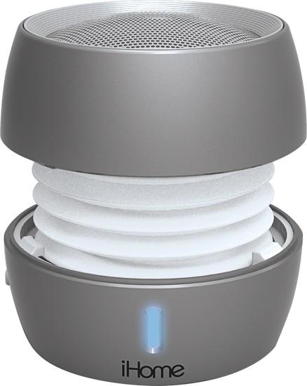 iHome iBT73 Bluetooth Mini Speaker Silver IBT73SC - Best Buy