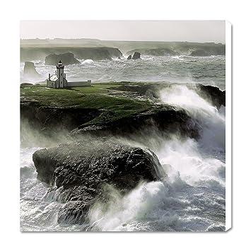 Photo sur toile Philip Plisson Le phare de la Pointe des Poulains à ...