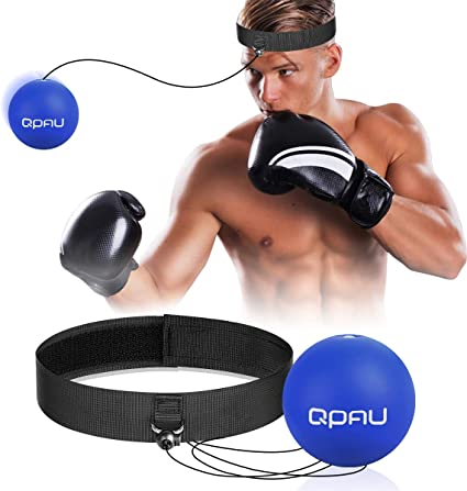 Fight Ball Reflex Boxing React Training Boxer Speed Punch Head Cap StringR JF