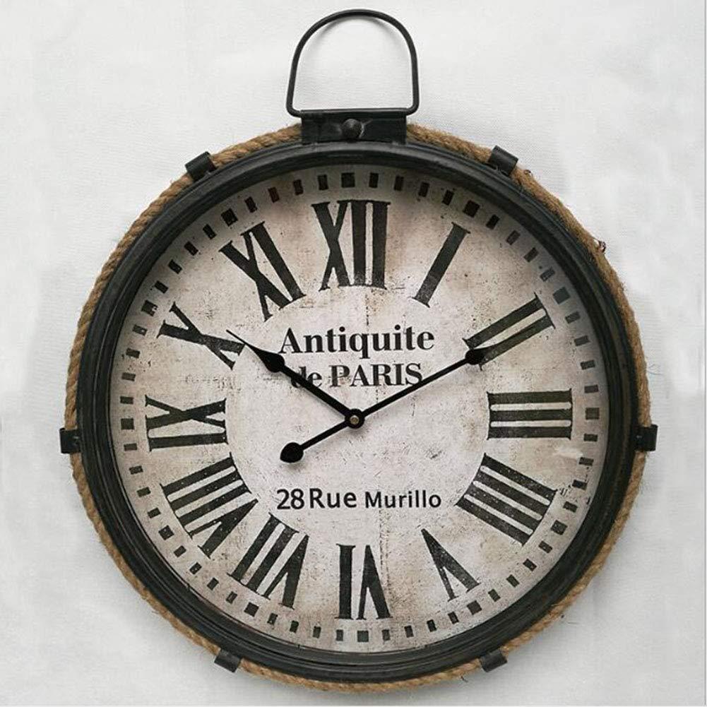 ヴィンテージメタルローマ数字の壁時計   B07RTT42DJ