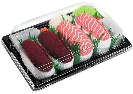 I Calzini Sushi, 2 paia di Calze: Tonno, Salmone, Un Regalo Straordinario, l'Ottima Qualita, I Numeri di Scarpe: EU 36-40, 41-46, un'Idea Originale