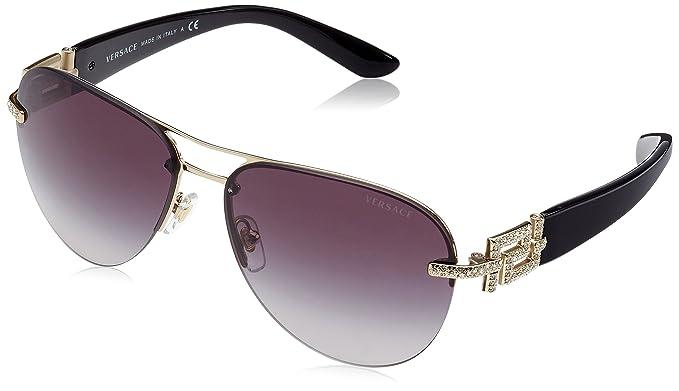 Versace 0VE2159B Gafas de sol, Pale Gold, 59 para Mujer ...