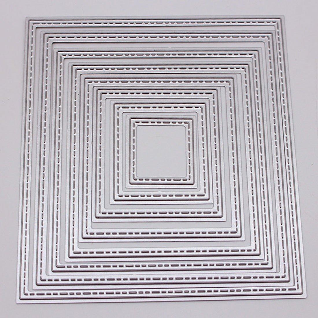 8 pcs Bricolage carré découpe Matrices pochoirs Carte gaufrage Scrapbooking Album décoration Artisanat Matrice de Coupe modèle Dossier Costume Basico