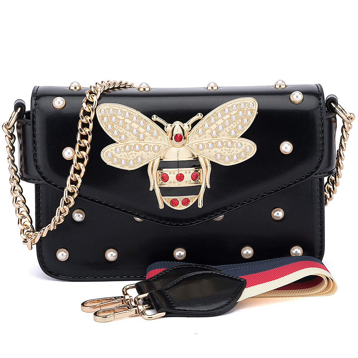 Amazon.com  BNWVC Bee Purses and Handbags for Women Fashion Shoulder  Crossbody Bags Satchel  Shoes aadad43e3f364