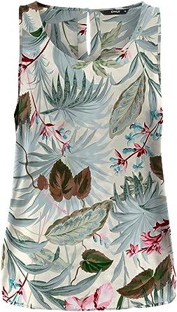 Only Onlnova Life S/L Top AOP WVN 9_1 Camisa Cami, Cloud Dancer, 36 para Mujer: Amazon.es: Ropa y accesorios