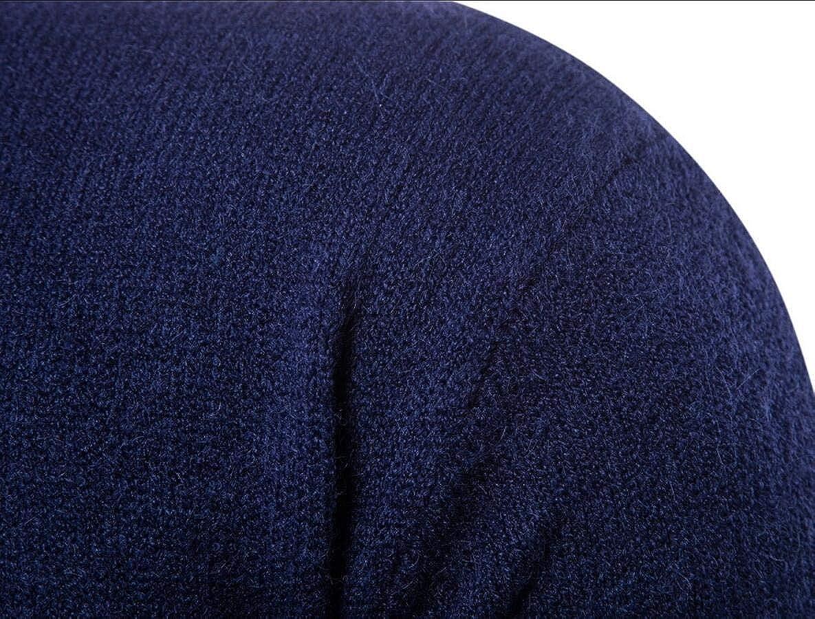 Qiangjinjiu Men Casual Basic Slim Fit Turtleneck Knitted Pullover Sweaters