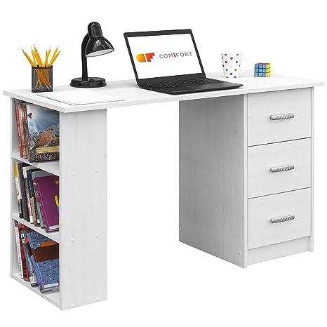 COMIFORT Escritorios, Mesa de Oficina, Escritorio de Despacho, 120x49x72  (Nordic)