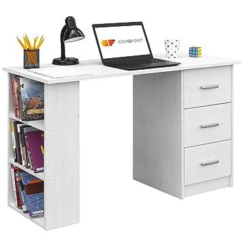COMIFORT Escritorios, Mesa de Oficina, Escritorio de Despacho, 120x49x72 (Nordic): Amazon.es: Hogar