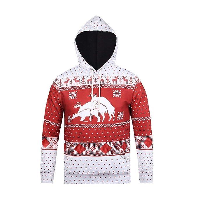 Stampato Lunghe Elegante Natale Unisex Uomo Coppia Incappucciato Donna Maglione Moda Felpe Cappuccio Con Maniche Chic Relaxed Invernali CxWrBdoe