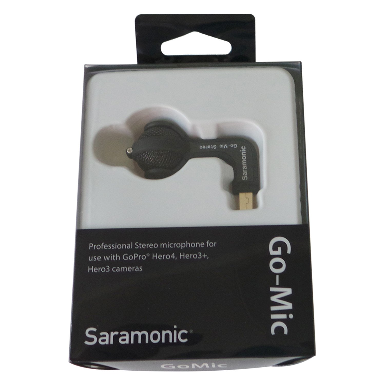 Micr/ófono de Condensador Dual X para c/ámaras GoPro 3 4 Color Negro Saramonic Go-Mic 3+
