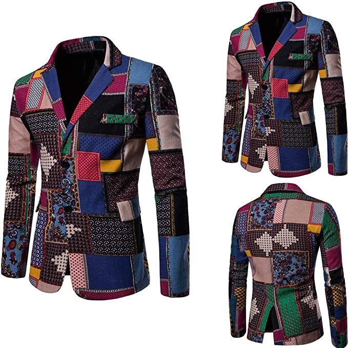 Chouron Mens African Coat Flexible Fit Dashiki Fashion Formal Business Suit Jacket Dresswear at Amazon Mens Clothing store: