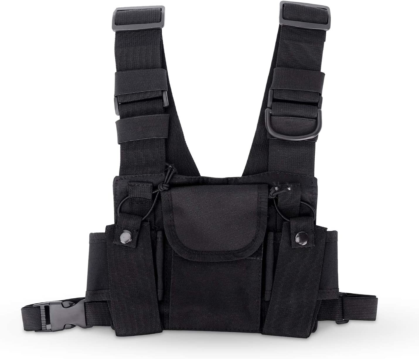 Image of the Kekai Universal Radio Chest Harness, in color black.