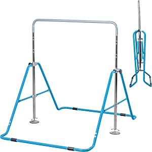 Upper Midland Products Gymnastic Bar for Girls, Adjustable Gymnastics Equipment for Home for Kids Training