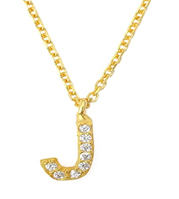 8373ff414f1 Sterling Silver 925 Letter J in Silver // Yellow Gold // Rose Gold Alphabet  Necklace Mini ...