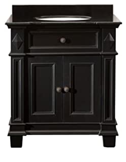 Ove Decors Essex VB Vanity With Black Marble Countertop With Ceramic Basin,  31