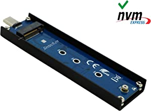 Sintech nVME to USB Type C Adapter,USB 3.1 M-Key M.2(NGFF) SSD External Card Enclusure(Fit for Samsung 960/970 EVO WD Black NVME SSD)
