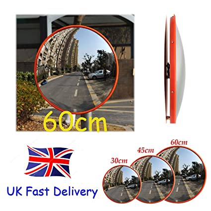 Traffic Mirror for Road Safety and Shop Security 130 Degree Convex Wide Angle Unbreakable Home Driveway Alley Garage Hospital Car Park Traffic Security Round Blind Spot Mirror 30CM