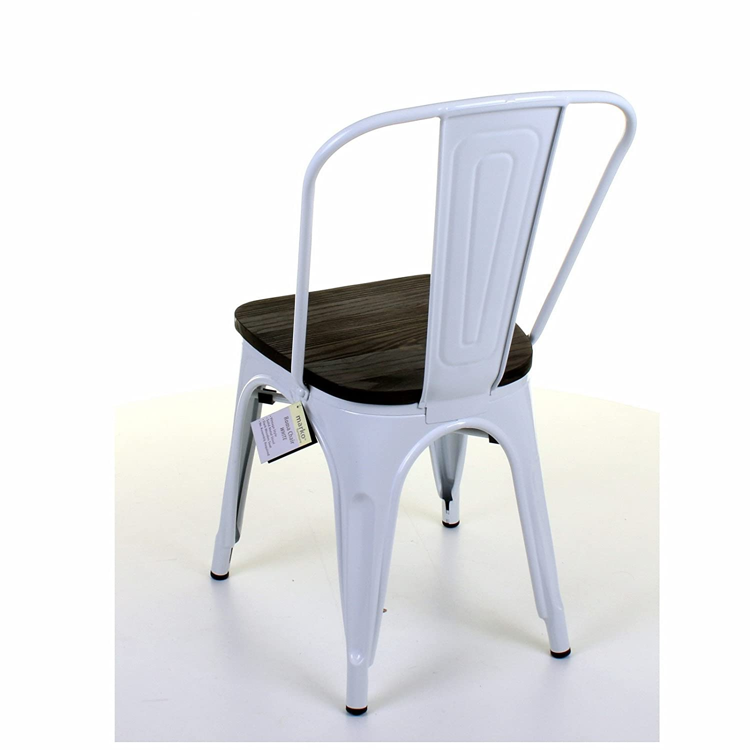 Marko Furniture Roma Metal Dining Chair Stackable Industrial