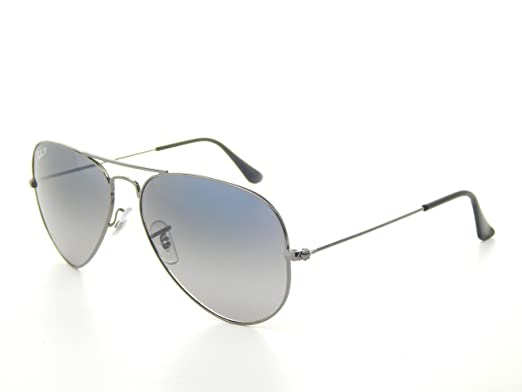 8c692ab489d Image Unavailable. Image not available for. Color  New Ray Ban RB3025 004 78  Gunmetal Blue Gary Gradient 55mm Polarized Sunglasses