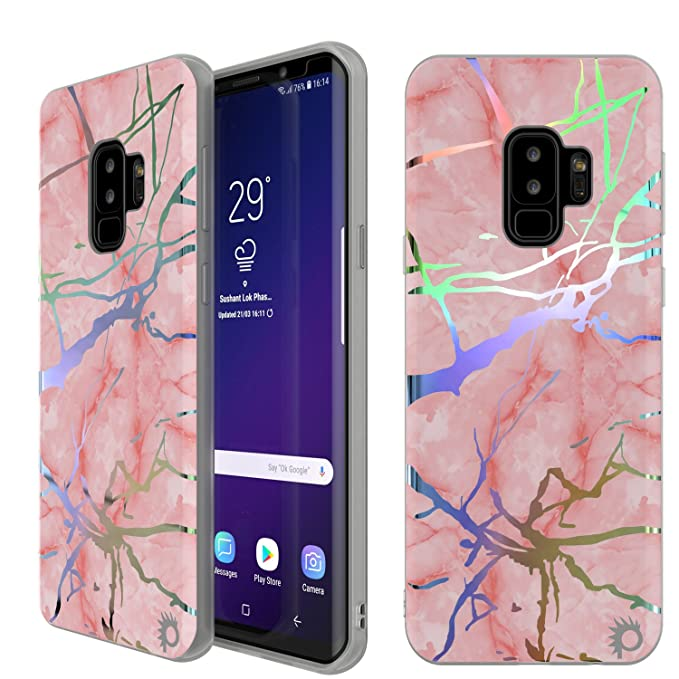 Punkcase Galaxy S9 Plus Marble Case, Beautiful & Protective Full Body Cover W/PunkShield Screen Protector [Non Slip Grip] Authentic Marble Look for ...