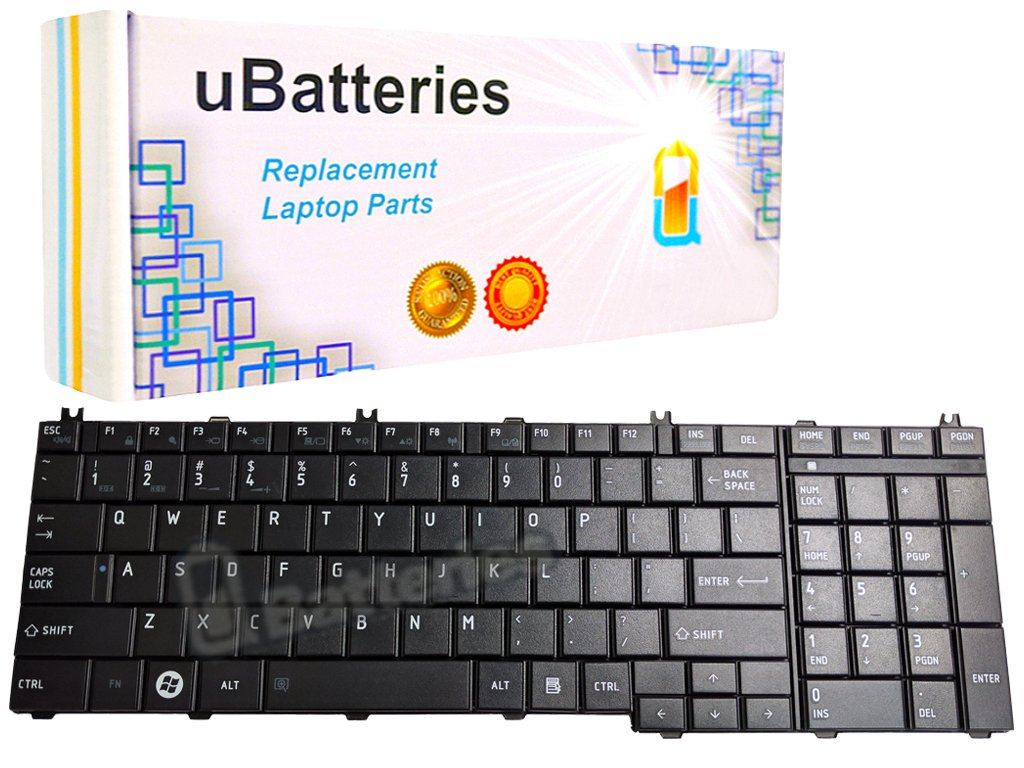 Ubatteries Compatible Keyboard Replacement For Toshiba Satellite C600 C640 L600 L630 L635 L640 L640d L645 L645d L730 L735 L740 L745 C650 C650d C655 C655d C660 C670 C675 C675d L650 L650d L655 L655d L670 L670d