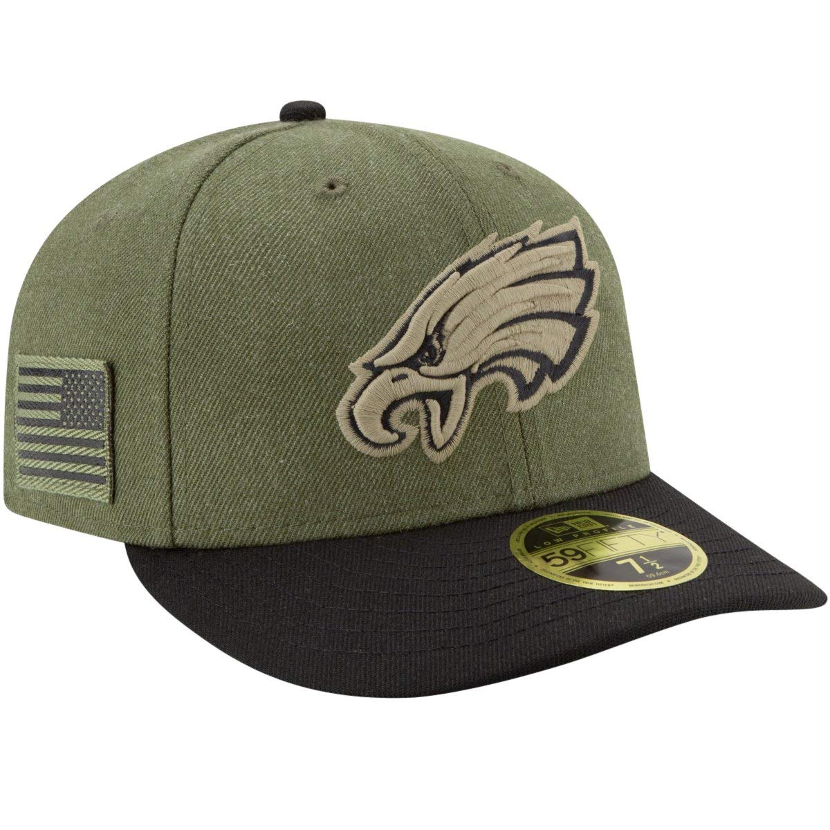 Amazon.com   New Era Men s Philadelphia Eagles Olive Black 2018 Salute to  Service Sideline Low Profile 59FIFTY Fitted Hat   Sports   Outdoors de9ecbb7585