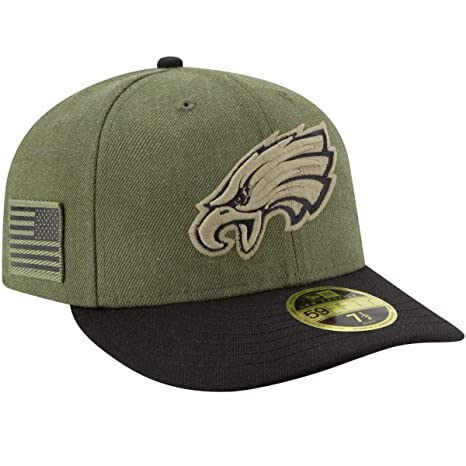 f9a3f8ed225 New Era Men s Philadelphia Eagles Olive Black 2018 Salute to Service  Sideline Low Profile 59FIFTY