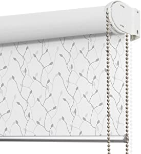 LANTIME Blackout Window Roller Shades, Patterned Thermal Insulated and UV Protection Window Roller Blinds, Easy Installation for Home and Office, Pattern 10