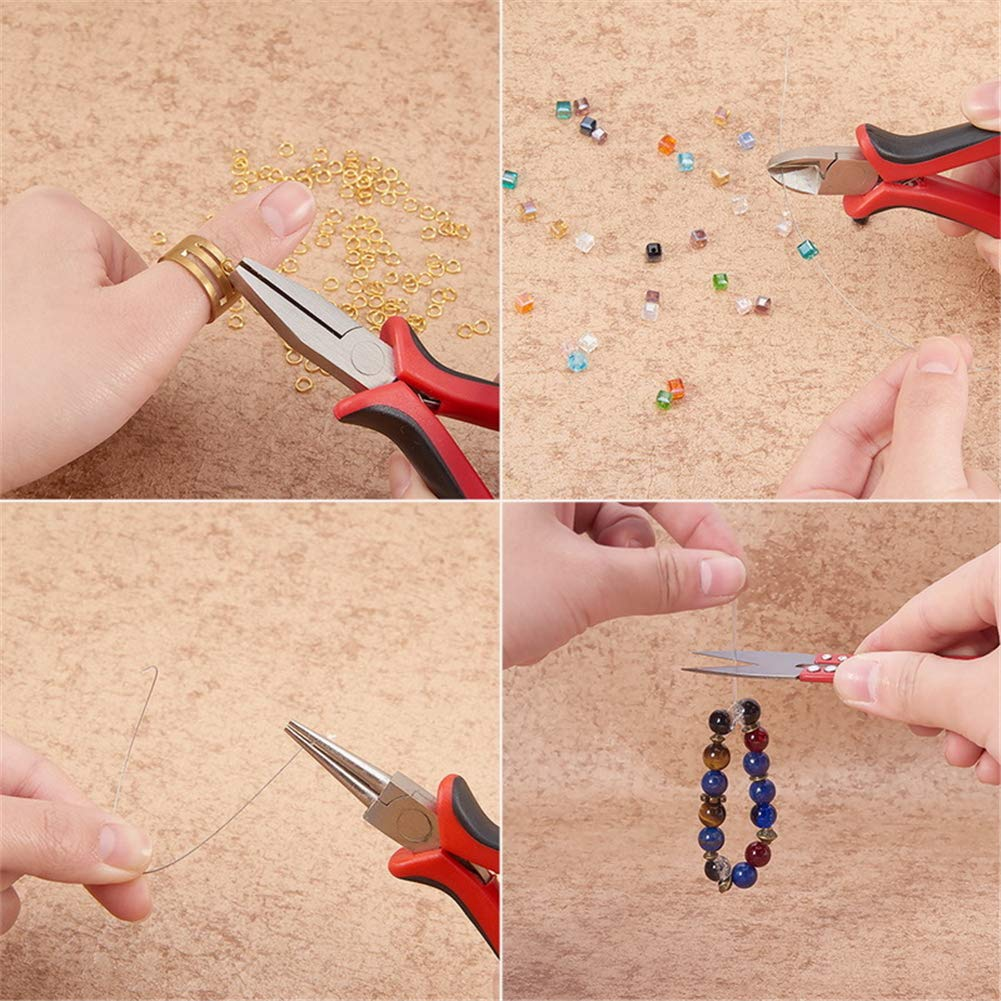 Earrings Jewelry Beading Making and Repair Tools for Making Bracelets Jewellery Findings Starter Kit for Adults and Beginners DIY Handmade etc Joyeee Jewelry Making Supplies Kit