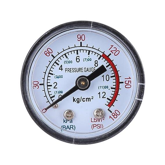 Fdit Control de Presión de Compresor de Aire con Regulador de Presión 120 PSI Válvula de Seguridad de Doble Calibre Socialme-EU: Amazon.es: Hogar