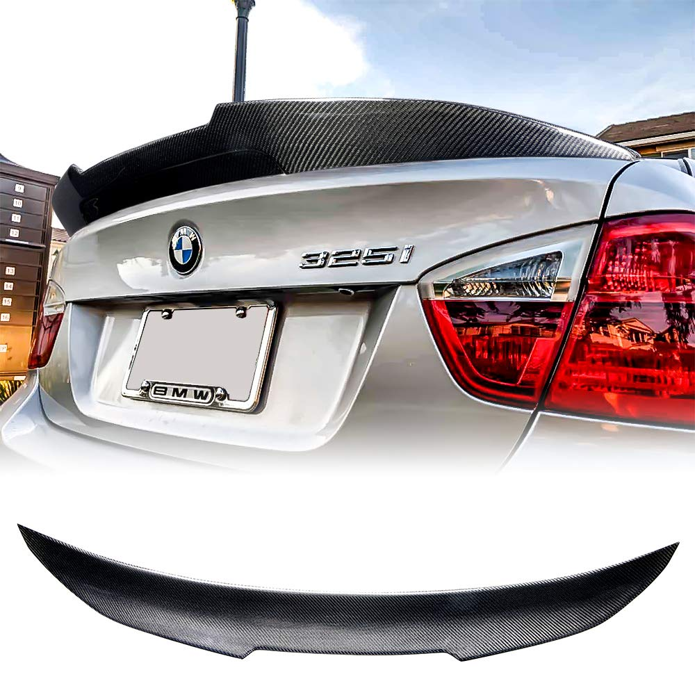 High Kick Style Rolling Gears Carbon Fiber Rear Trunk Spoiler Fits BMW 3er E90 Sedan and M3
